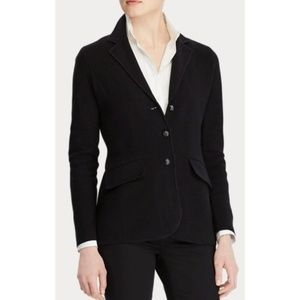 Ralph Lauren Black Knit Sweater Blazer